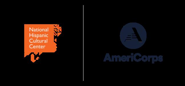 National Hispanic Cultural Center and AmeriCorps logos
